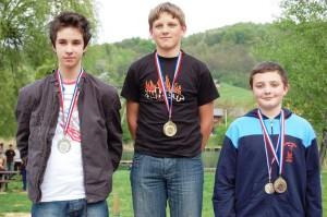 Kadet  Dominik Čizmar  2. mjesto Prvenstvo HRVATSKE serijska zračna puška (krajnje lijevo)